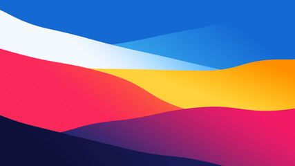 abstract wallpaper from wavy layers filled colorful gradient