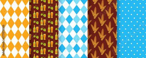 Canvas Print Oktoberfest seamless pattern
