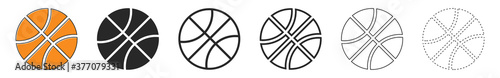 Basketball ball icons. Set of basketball balls isolated. Fototapet