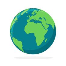 Earth Globe Icon Isolated. Wor...