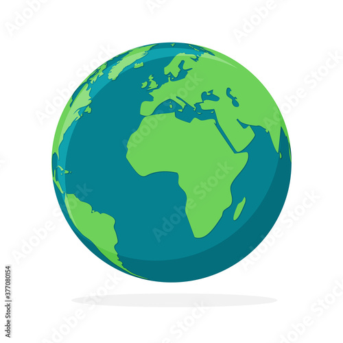 Fotografia Earth globe icon isolated. World map icon. Vector illustration.