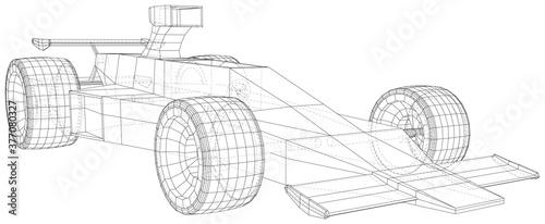 Canvastavla Model speed car
