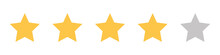 Set Of Stars. Four Stars. Rati...