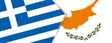 Greece And Cyprus Flags, Two Vector Flags.