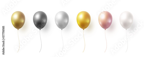 Valokuvatapetti Balloon set isolated on white background