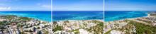 Caribbean City On Tropical Seashore. Bavaro Beach. Punta Cana