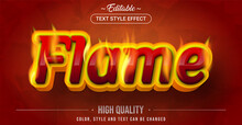 Editable Text Style Effect - Flame Theme Style.
