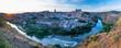 "Panoramic at sunset, ""Mirador del Valle"", Toledo city, Toledo, Castilla-La Mancha, Spain, Europe"