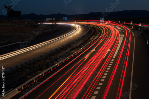 Fotografie, Obraz Estelas de luz en Castilla-la Mancha
