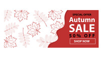 Autumn Sale Text Banners For S...