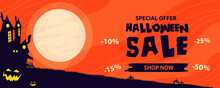 Halloween Sale Banner. Hallowe...