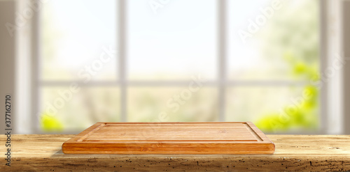 Table background of free space and window