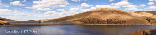 Fotografie, Obraz The Willow Creek Dam next to Heppner, Oregon, built for flood control