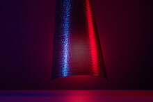 Abstract Concept Image With Floating Mesh Fabric