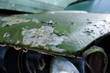 Detail Of Heavy Corrosion On An Old Car