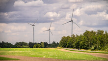 Landscape With Three High Wind...