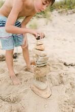 Stock Photo Of Child Balancing...
