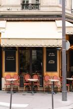 Empty Cafe In Paris