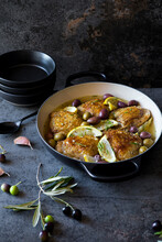 Chicken With Olives And Lemon