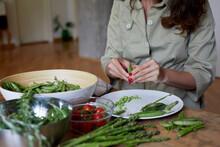 Preparing Fresh Vegetables.