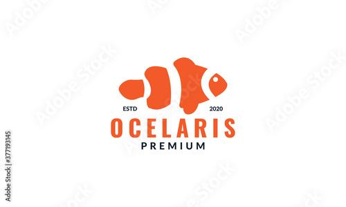 Foto Ocellaris clownfish aquarium logo design