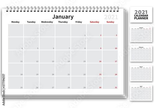 2021 Calendar Planner Layout