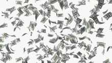 Falling Money Rain Concept Illustration