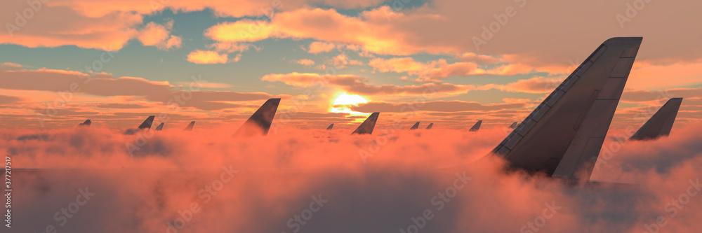 Fototapeta passenger plane in the sky