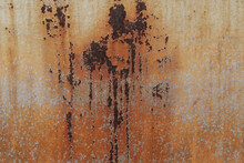 Rusty Oxidised Metal Textured Background