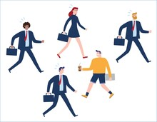Business Concept As A Group Of...