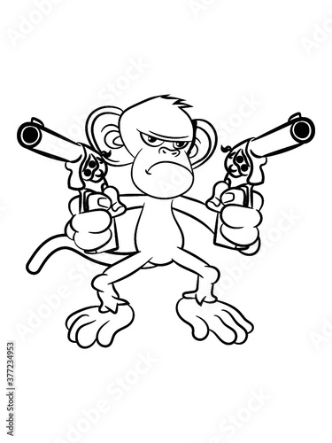 affe Pistolen Waffen