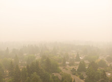 Beaverton Oregon City In Smoke...