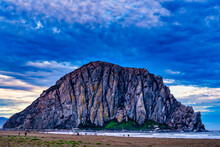 Morro Bay, Rock, Cloudy, Overcast, Beach, Ocean