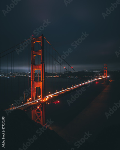 Платно golden gate bridge at night