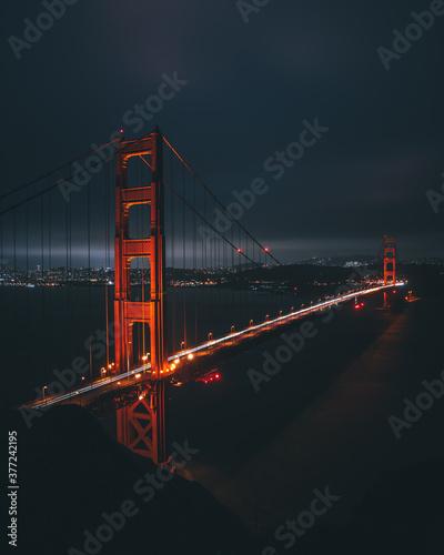 Photo golden gate bridge at night