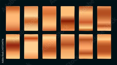 Cuadros en Lienzo copper or rose gold premium gradient swatches palette set