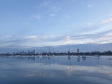 The View Of The City Of Melbourne From St Kilda, Australia