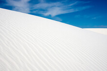 White Sand Dunes In White Sands National Park New Mexico