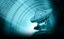 Satellite Dish Antenna On Abst...