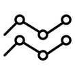 statistical line style icon. suitable for your creative project