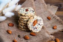 Pile Of Homemade Almond Multi ...