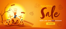 Halloween Sale Header Or Banne...