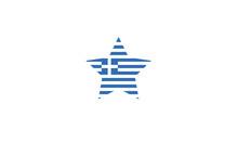 Greece Star National Flag Symb...