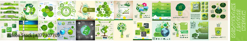 Modern ecology infographics template - fototapety na wymiar