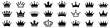 Crown icons set. Crown symbol collection. Vector illustration