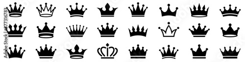 Fototapeta Crown icons set. Crown symbol collection. Vector illustration