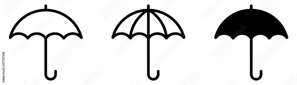 Fototapeta Umbrella simple icon set. Vector illustration