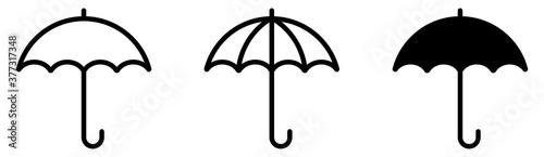 Fototapeta Umbrella simple icon set. Vector illustration obraz