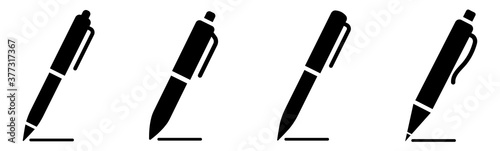 Fotomural Pen simple icon set. Pen symbol collection. Vector