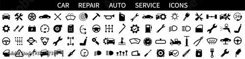 Fotografía Car service icons set